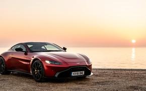 Картинка закат, Aston Martin, Vantage, 2018