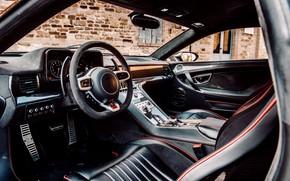 Картинка купе, руль, салон, V10, De Tomaso Pantera, Huracán, Lamborghini Huracan, 2020, двухдверное, Project1, Panther ProgettoUno, …