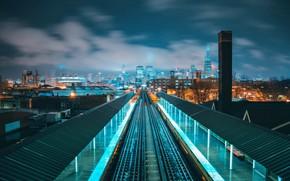 Картинка дорога, город, фото, станция, железная