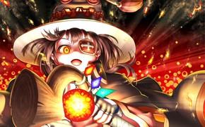Обои девушка, шляпа, Kono Subarashii Sekai Ni Shukufuku Wo!, Богиня Благословляет Этот Прекрасный Мир