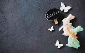 Картинка праздник, игрушки, пасха, кролики
