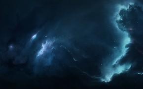 Картинка Звезды, Космос, Туманность, Fantasy, Арт, Stars, Space, Art, Фантастика, Nebula, Fiction, StarkitecktDesigns, by StarkitecktDesigns, Fields …