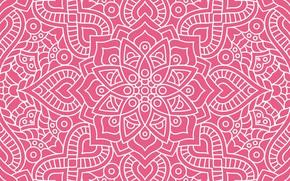 Картинка текстура, орнамент, pattern, floral, seamless, темно розовый