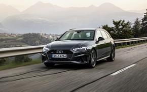 Картинка дорога, Audi, универсал, 2019, A4 Avant, S4 Avant