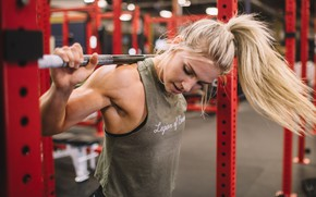 Картинка blonde, workout, fitness