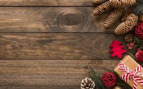 Картинка украшения, шары, Новый Год, Рождество, Christmas, balls, wood, New Year, gift, decoration, Merry