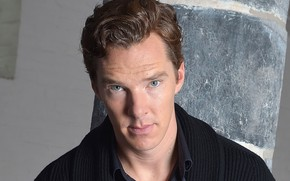 Картинка взгляд, фон, портрет, рубашка, свитер, Бенедикт Камбербэтч, Benedict Cumberbatch, британский актер