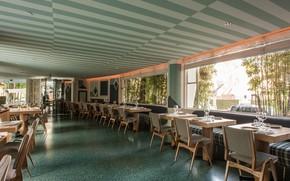 Картинка интерьер, ресторан, отель, помещение, Beverly Hills, Avalon Hotel