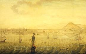 Картинка пейзаж, масло, картина, холст, 1779, H. Knop, Вид Смирны