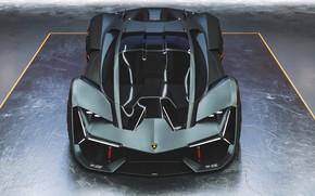 Картинка Авто, Lamborghini, Машина, Концепт, Арт, Рендеринг, Supercar, Передок, Hypercar, Lamborghini Terzo Millennio, Terzo Millennio, Transport …