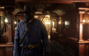Картинка Game, Rockstar Games, Red Dead Redemption 2, Gang, RDR