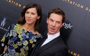 Картинка двое, Бенедикт Камбербэтч, Benedict Cumberbatch, супруги, Софи Хантер