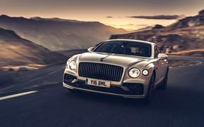 Картинка закат, Bentley, Flying Spur, 2020, Blackline