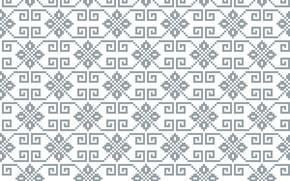 Картинка белый, серый, узор, текстура, орнамент