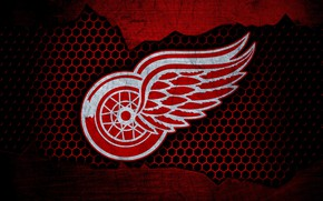 Картинка wallpaper, sport, logo, NHL, hockey, Detroit Red Wings