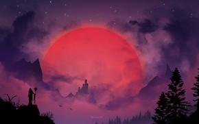 Картинка ночь, ландшафт, ведьма