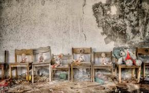 Картинка игрушки, стулья, детский сад, натурализм