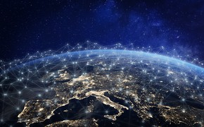 Картинка space, europe, night, network, connection