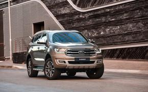 Картинка стена, Ford, Everest, Limited, 4WD, пятидверный, 2019