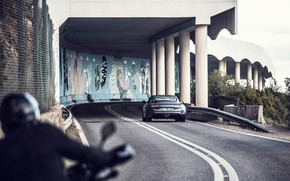Картинка дорога, транспорт, колонны, автомобиль, Alpine A110S