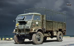 Картинка Грузовой автомобиль, военный грузовик, Model W.O.T. 6, WWII British Truck, Fordson