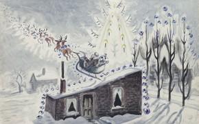 Картинка 1945, Charles Ephraim Burchfield, Twas the Night before Christmas