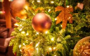 Картинка шарики, шары, Рождество, Новый год, ёлка, лампочки