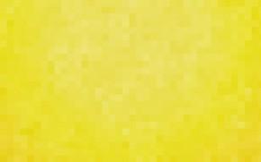Картинка жёлтый, фон, обои, пиксели, квадрат