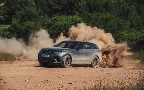 Картинка пыль, Land Rover, Range Rover, грунтовка, SUV, V8, Velar, 2019, Dynamic Edition, SV Autobiography