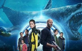 Картинка акула, персонажи, The Meg, The Meg (2018), Мегалодон, Мег: Монстр глубины