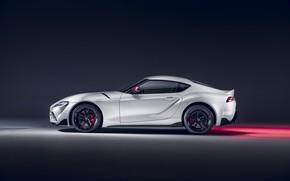 Картинка Toyota, вид сбоку, Supra, 2020, GR Supra, A90, 2.0L