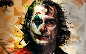 Картинка Грусть, Улыбка, Хаос, Клоун, Драма, Триллер, Безумие, Депрессия, Фильм 2019, Joker 2019, Джокер 2019