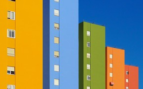 Картинка город, дом, цвет
