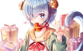 Картинка подарки, С нуля, Рем, Re Zero Kara Hajimeru Isekai Seikatsu, День Святого Валентина, Жизнь В …
