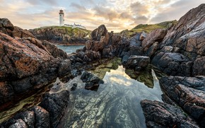 Картинка скалы, побережье, маяк