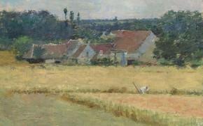 Картинка пейзаж, картина, Теодор Робинсон, Theodore Robinson, Французская Ферма