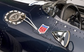 Картинка Спидометр, Зеркало, Eagle, Руль, Formula 1, 1966, Classic car, Sports car, Eagle T1G (Mk1)