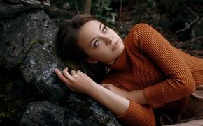 Картинка девушка, свитер, Надежда Подобина