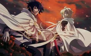 Картинка парни, вампиры, Последний Серафим, Owari no Seraph