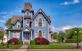 Картинка деревья, дом, США, особняк