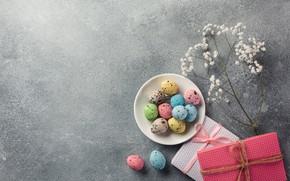 Картинка праздник, Пасха, подарки, композиция, eggs