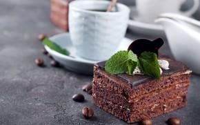 Картинка пирожное, крем, десерт, шоколадное