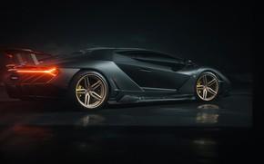 Картинка рендеринг, фары, Lamborghini, суперкар, вид сбоку, Centenario