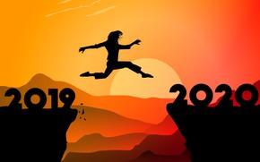 Картинка прыжок, силуэт, 2020, 2019
