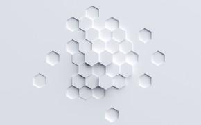 Картинка выпуклость, шестиугольник, гексагон, вмятина