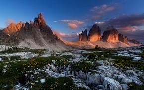 Картинка горы, природа, утро