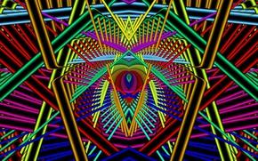 Картинка свет, линии, неон, пересечение