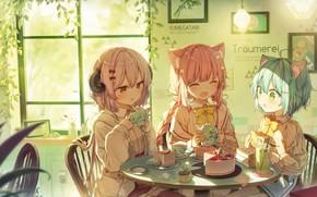 Картинка девочки, фэнтези, чаепитие