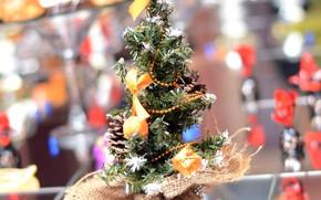 Картинка шарики, праздник, новый год, ёлка, украшение