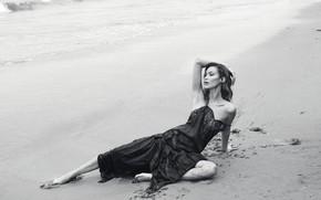 Картинка пляж, модель, Bella Hadid